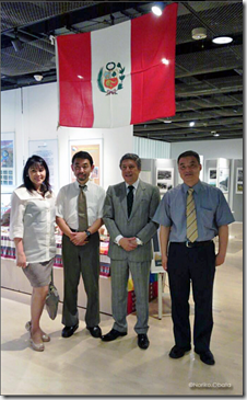 (De izq a derecha) Susan de Cárdenas, Hidaka Kenzo, Julio Cárdenas y Matsumoto Kojiro-Noriko.Obata